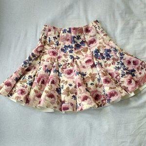 Lauren Conrad Floral Skater Skirt